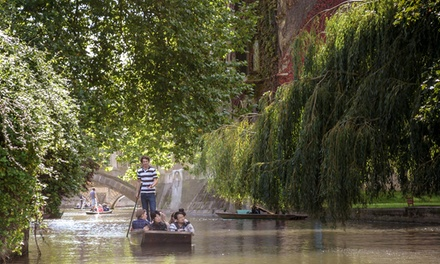 45Minute ChauffeurGuided Cambridge Punting Tour for One or Two from The Cambridge Punting Company
