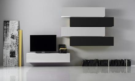 Parete da soggiorno disponibile in 2 modelli e vari colori | Italia ...