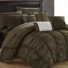 Mori Pinch Pleated Ruffled Bed-in-a-Bag Comforter Set (10-Piece)