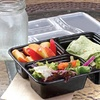 3-Compartment Plastic Meal Boxes (20-Piece)