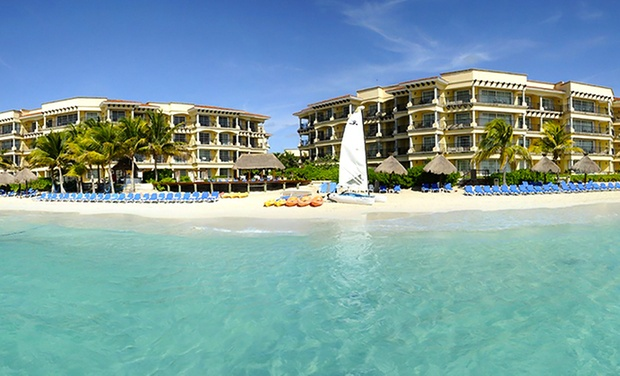 TripAlertz wants you to check out ✈ 4-, 6-, or 7-Night Hotel Marina El Cid Stay with Airfare. Price per Person Based on Double Occupancy.  ✈ Hotel Marina El Cid Stay with Airfare from Vacation Express - All-Inclusive Mexico Vacation
