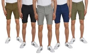 Verdo Men's Skinny-Fit Fashion Printed Linen-Blend Shorts