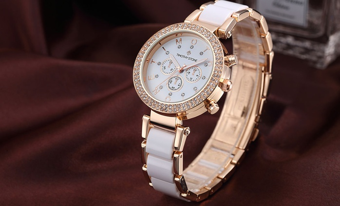 Timothy Stone Women's Watch with Crystals from Swarovski® for €29.90 With Free Delivery (80% Off)