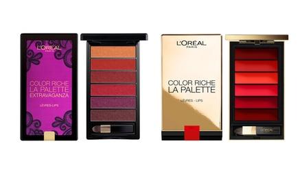 Two L'Oreal Color Riche Lip Palettes