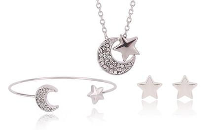 Set de joyas de estrellas y luna con opción a caja de lujo