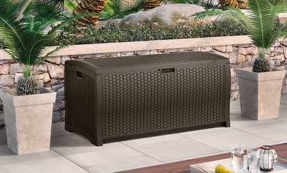 Image Placeholder Image For Suncast Wicker Deck Boxes (73, 99, Or 122 Gal.)
