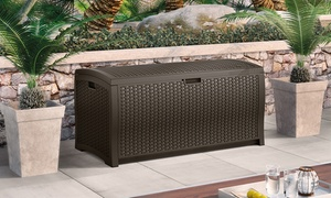 Suncast Wicker Deck Boxes (73, 99, or 122 Gal.)