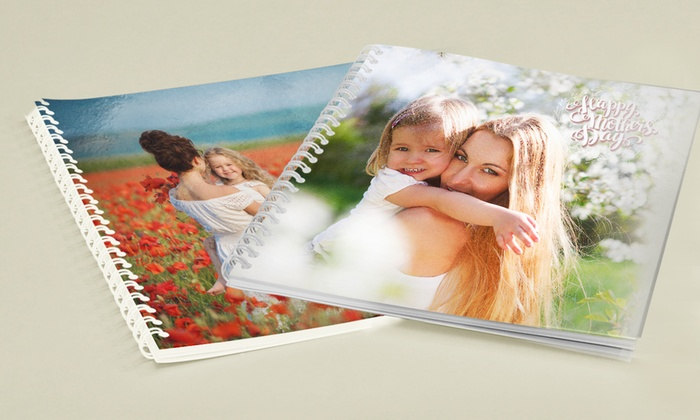 Individuelles Fotoalbum 20 x 20 cm oder 21 x 30 cm mit Ringbindung von Printerpix (bis zu 89% sparen*)