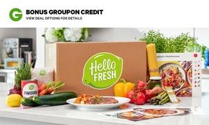 HelloFresh Meal Plans + BONUS Groupon Credit