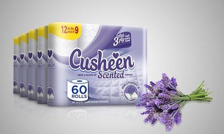 60 or 120 Rolls of Cusheen Lavender Toilet Paper