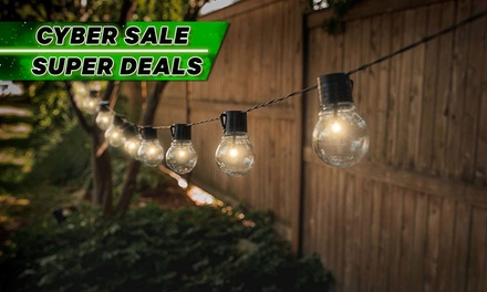 Solar-Powered Retro-Style String Light Bulbs: One ($15) or Two Sets ($26)