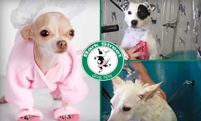 Bark Street Dog Spa - Freedom Park: $10 Self-Service Dog Wash and 5-Pound Bag of Organic Dog Food at Bark Street Dog Spa