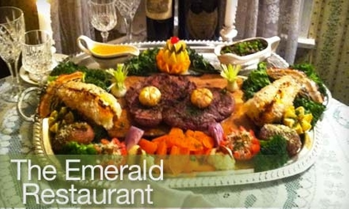 The Emerald Restaurant - Bee Cave: $60 for Four-Course Emerald Cart Dinner for Two ($175.50 Value) or $199 for Paddy O'Cupid's Valentine's Delightful Complete Feast for Two at The Emerald Restaurant ($450 Value)