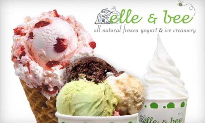 Elle & Bee All Natural Frozen Yogurt & Ice Creamery - Tukwila: $4 for $9 Worth of Frozen Yogurt and Ice Cream at Elle & Bee All Natural Frozen Yogurt & Ice Creamery
