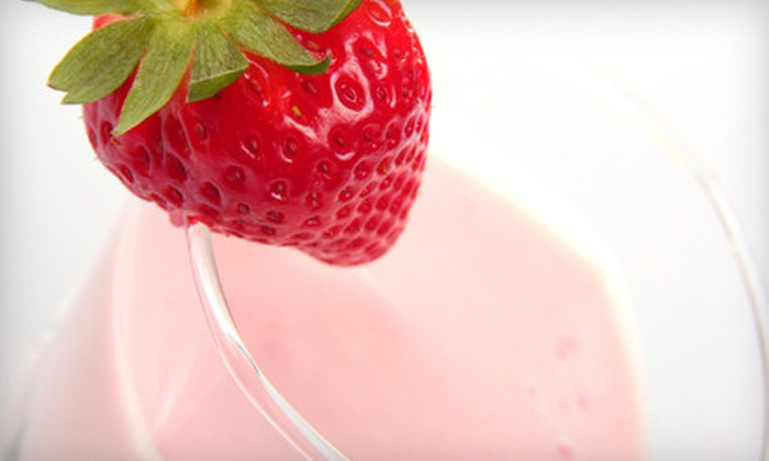 Franks and Toppings - Independence Grove: $10 for Four Smoothies or Shakes at Franks and Toppings (Up to $19.96 Value)