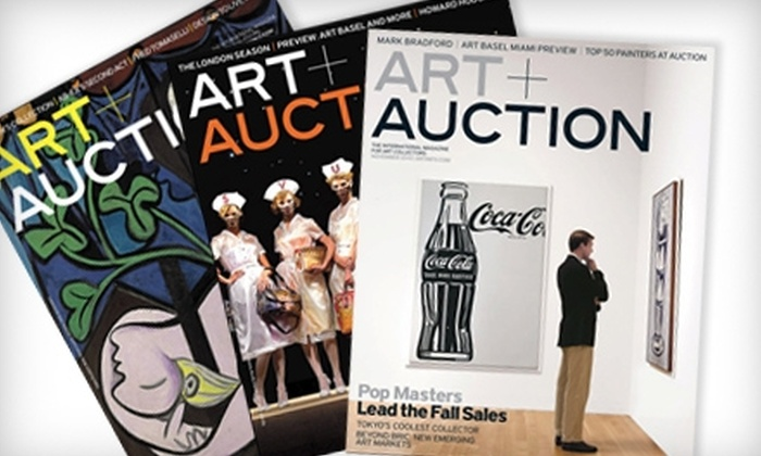 """Art + Auction: $40 for a One-Year Subscription to """"Art + Auction"""" Magazine ($80 Value)"""