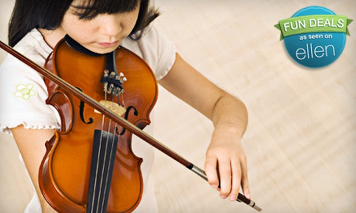 Music to My Ears - Cotati: $62 for Four Weeks of Music Classes at Music to My Ears in Cotati ($128 Value)