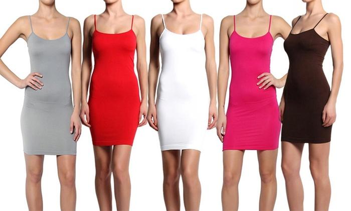 Women's Seamless Cami Slips (3-Pack): Women's Seamless Cami Slips (3-Pack)