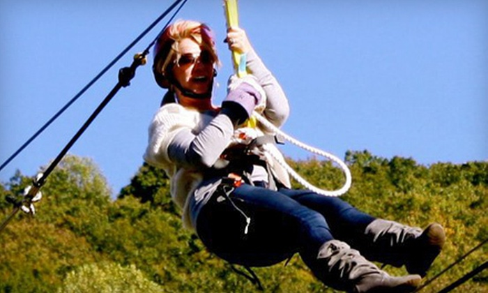 Fire Wire Zip Lines - Blue Ridge: $15 for One Super Zipline Ride at Fire Wire Zip Lines in Blue Ridge (Up to $29.95 Value)