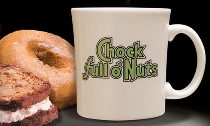 Chock Full o'Nuts - New York: $10 for $20 Worth of Breakfast Fare, Sandwiches, Coffee, and More at Chock full o'Nuts