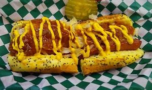 Old Tucker Fountain: Hot Dogs, Chips, and Drinks for Two or Four at Old Tucker Fountain (Up to 50% Off)