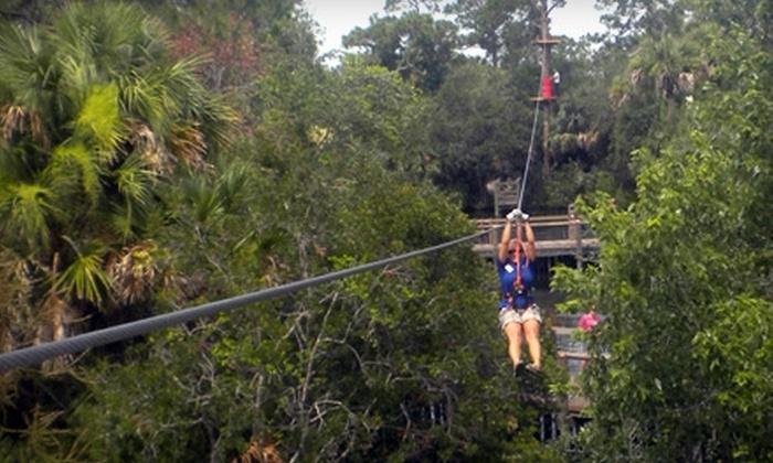 Brevard Zoo - Orlando: $20 for a Treetop Trek Aerial Adventure at Brevard Zoo in Melbourne ($40 Value)
