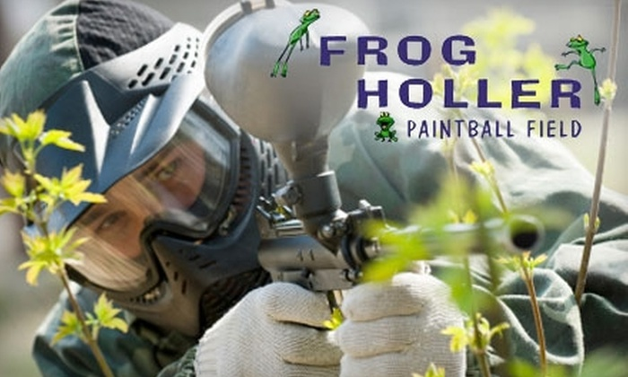 Frog Holler Paintball Field - Salem: $10 for All-Day Admission, a Paintball Marker, Unlimited Co2, and 100 Paintballs at Frog Holler Paintball ($20 Value)