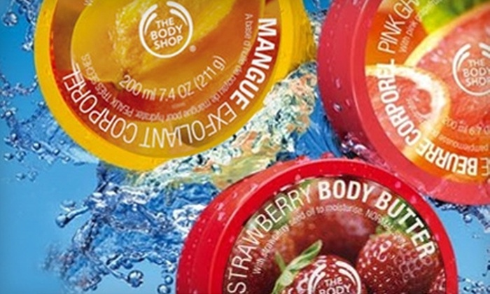 The Body Shop - St. John's: $20 for $40 ($45 if Redeemed by May 30) Worth of Skincare, Bath, and Beauty Products at The Body Shop
