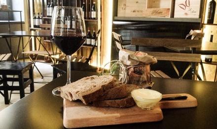 Degustazione con tagliere e vino