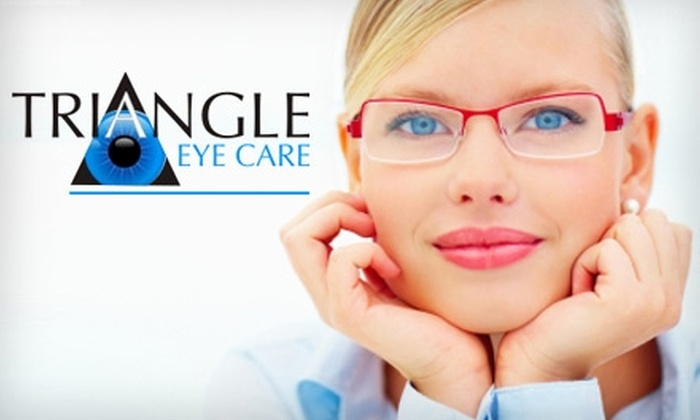 Triangle Eye Care - Lakewood Village: $79 for Eye Exam, Optomap Retinal Exam, and $150 Credit Toward Glasses or $100 Credit Toward Contacts at Triangle Eye Care in Long Beach
