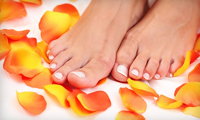 Pink Nails and Spa - Lincoln: $12 for a Spa Pedicure or a Shellac Manicure at Pink Nails and Spa ($25 Value)