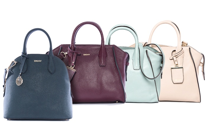 DKNY Women's Leather Satchel Bag | Groupon Goods