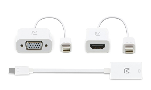 Aduro Mini DisplayPort to HDMI or VGA Adapter