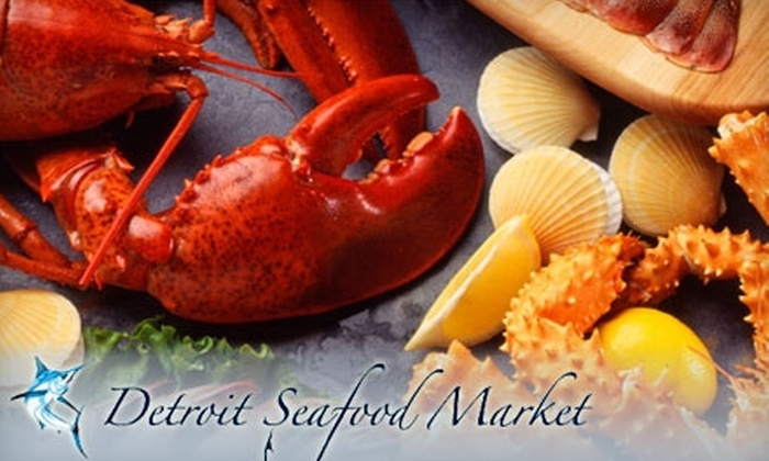 Detroit Seafood Market - Downtown: $20 for $40 Worth of Surf, Turf, and Drinks at Detroit Seafood Market
