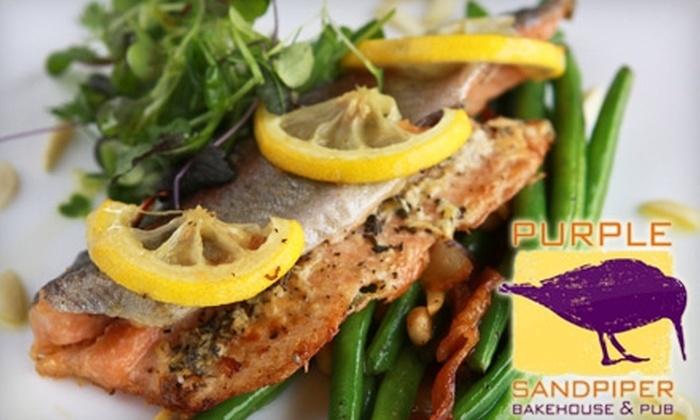 Purple Sandpiper - East Bloomington: $10 for $22 Worth of Gourmet European Fare at Purple Sandpiper