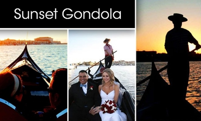 Sunset Gondola - Huntington Beach: $35 for an Hour-Long Authentic Gondola Cruise for Two from Sunset Gondola ($80 Value)