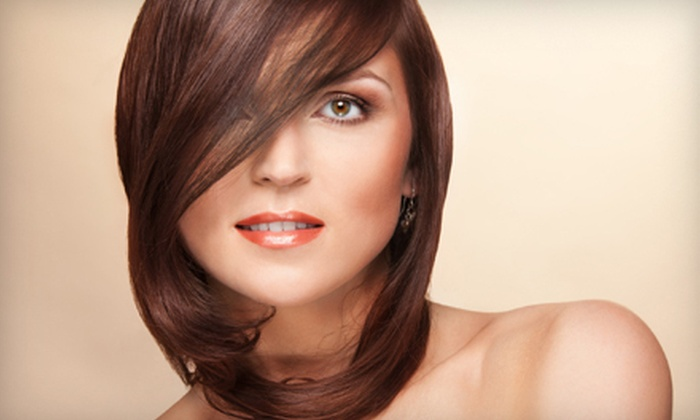 Rockin The Shears Hair and Tanning Salon - Gallum Area: Hairstyling Services at Rockin The Shears Hair and Tanning Salon in Greensboro (Up to 78% Off). Three Options Available.