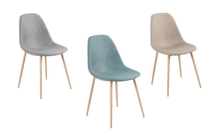 lots de chaises design scandinave groupon. Black Bedroom Furniture Sets. Home Design Ideas