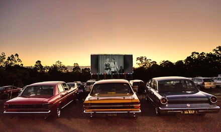 $10 for DriveIn Movie Pass + Food for Two People at Tivoli DriveIn Theatre & Café, Chuwar Up to $23 Value