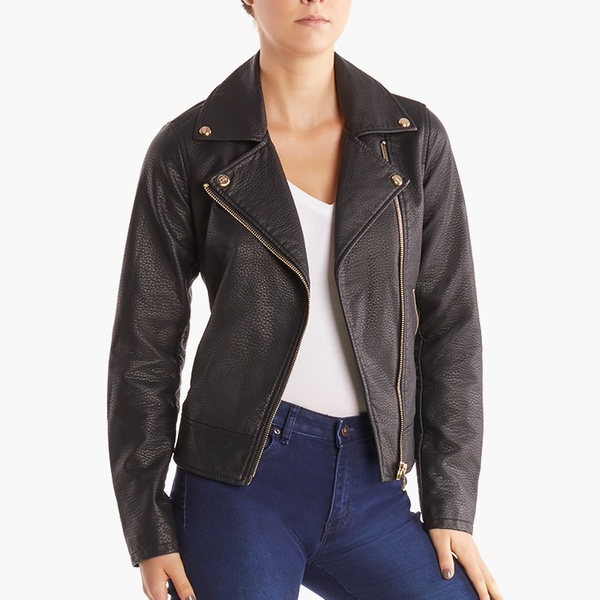 better price for how to serch presenting Steve Madden Women's Faux Leather Moto Jacket. (Size 2X)