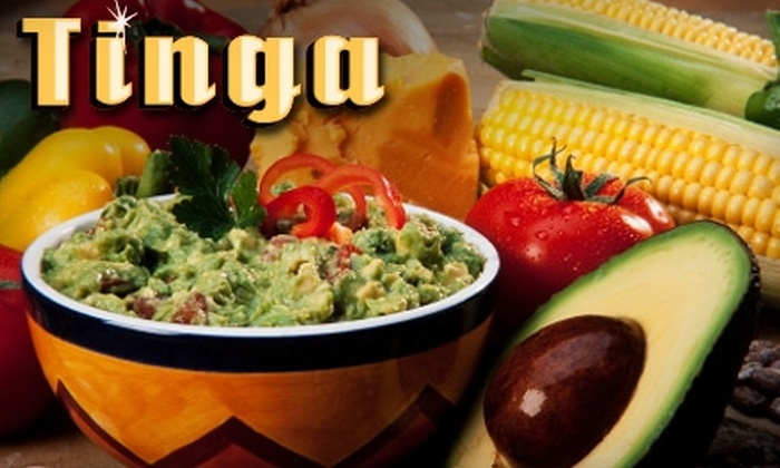 Tinga Taqueria - Multiple Locations: $10 for $20 Worth of Contemporary Mexican Cuisine at Tinga Taqueria. Three Locations Available.