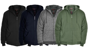 Men's Full-Zip Sherpa-Lined Hoodie Jacket