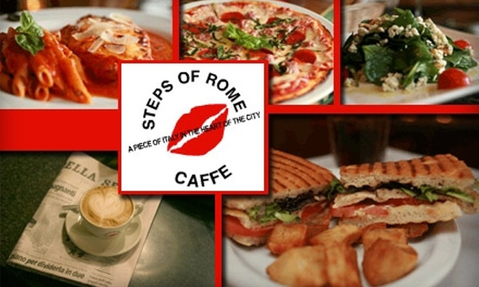 Steps of Rome Caffe - North Beach: $10 for $20 Worth of Italian Fare and Beverages at Steps of Rome Caffe