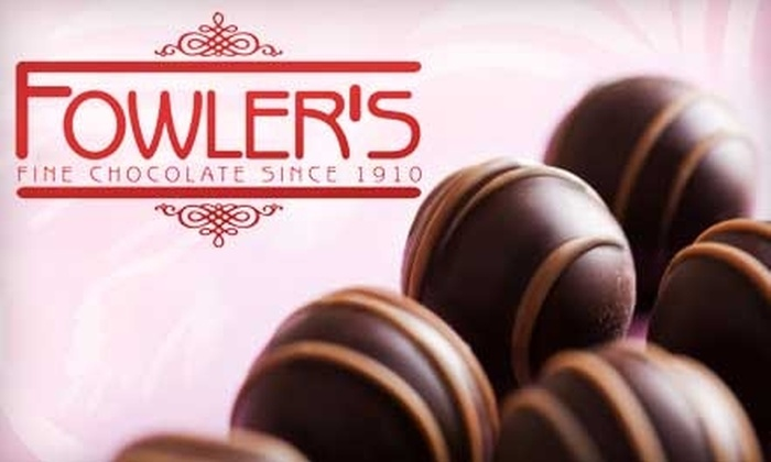 Fowler's Chocolates - Multiple Locations: $5 for $10 Worth of Chocolates at Fowler's Chocolates