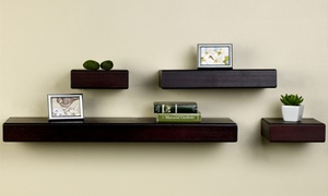 Melannco Floating Shelves (4-Piece)