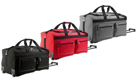Bolsa de viaje con ruedas y bandolera de nylon extraíble