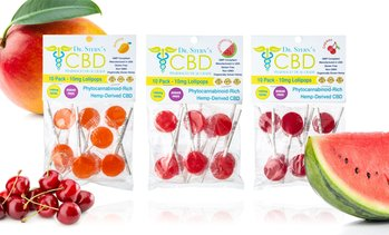 Sugar-Free Pharmaceutical Grade CBD-Infused Lollipops (10-Pack)