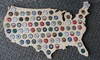 USA Wooden Bottle-Cap Map
