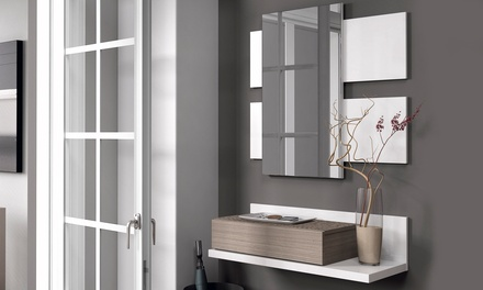 One-Drawer Hall Unit with Mirror