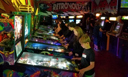 All-Day Pass for One or Two-Hour Pass for One, Two, or Four at Retrovolt Arcade (Up to 40% Off)